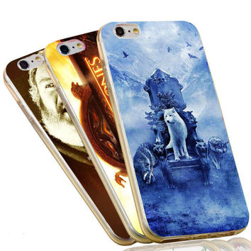 Jon Snow Stark Wolf King Throne The Game of Thrones Case For iPhone 4 4S 5C 5 5S SE 6 6S 7 Plus Soft TPU Phone Cover