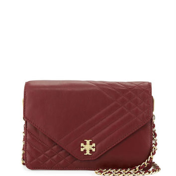 Tory Burch Kira Quilted Crossbody Bag, Red Agate
