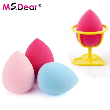 Makeup Foundation Sponge Puff Flawless Powder Blender Blending Cosmetic Smooth Beauty Make Up Tool Foundation Beauty with Holder