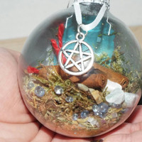 Witch Ball, Witch Protection Ball, Glass Witch Ball, Pagan Protection Ball, Wiccan Protection Ball,