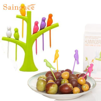 Saingace Birdie Fruit Fork Birds On The Tree Dessert Cake Dinnerware Party Cocktail quality first