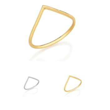 Skinny Ring (18K Gold Plated or Rhodium Plated)