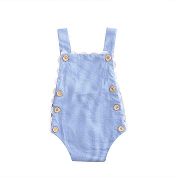 Newborn Baby Boys Girls Striped sleeveless brace bodysuit Clothes Cool little girls Bodysuit summer cotton kds girls clothing