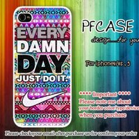 Nike JUST DO IT every damn day case For Iphone 45Samsung S2S3S4 by pfcases12 on Zibbet