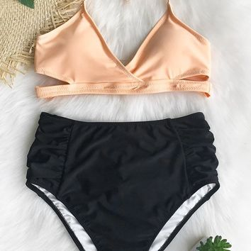 Cupshe Mental Healing High-waisted Bikini Set