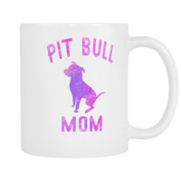 Pit Bull Mom Colorful Mug