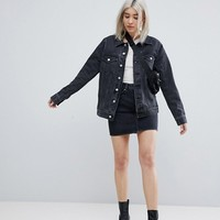 Weekday Single Trucker Jacket at asos.com