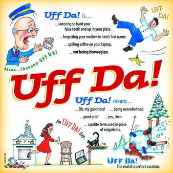 Uff Da Translation Ceramic Wall Plaque