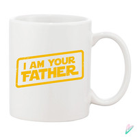 I Am Your Father Funny Coffee Mug Mugs Cup Fathers day gift Shirt Dad Grandpa Star Wars Parody present Papa Movie Film Custom Gift for Dad