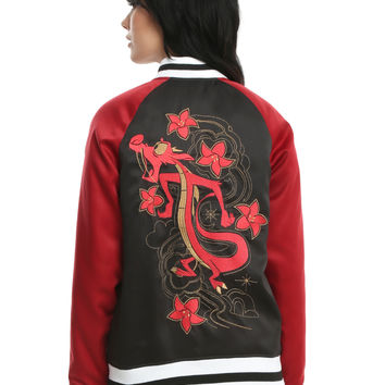 Disney Mulan Mushu Black & Red Girls Souvenir Jacket