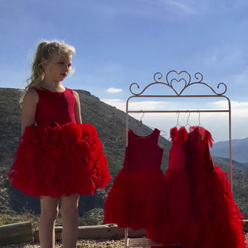 DOLLY by Le Petit Tom ® FANCIFUL DRESS red