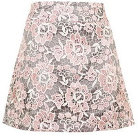 Lace A-Line Skirt - Pink