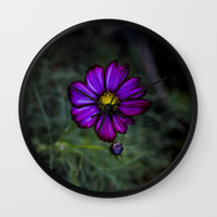 Floral autumn Wall Clock by VanessaGF