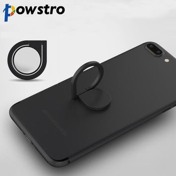 Powstro Magnetic All Metal Finger Ring Stand Magnet Holder 360 Rotating Mount Mobile Phone Drip Grip Universal for smartphone