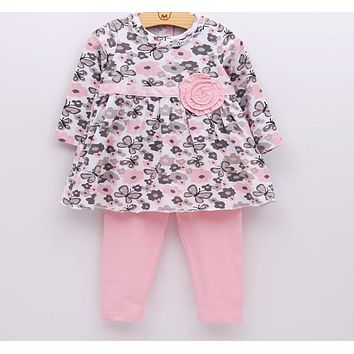Baby Girl Clothes Set Newborn Toddler Cotton Suit Kids Girl Outfits Spring Tracksuit Infant Clothing Set