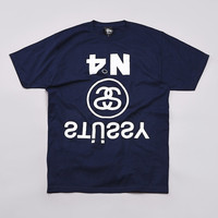 Flatspot - Stussy Upside Down T Shirt Navy
