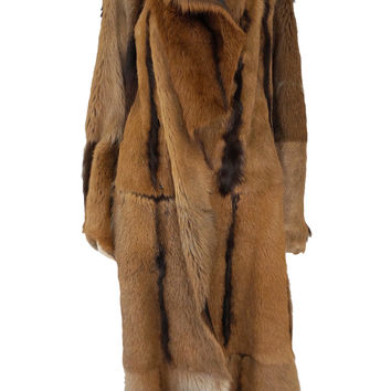 DONNA KARAN COLLECTION Reversible Lamskin Fur Coat, Small