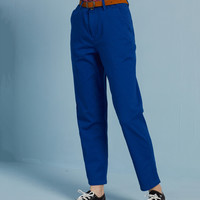 Retro Straight Leg Trousers