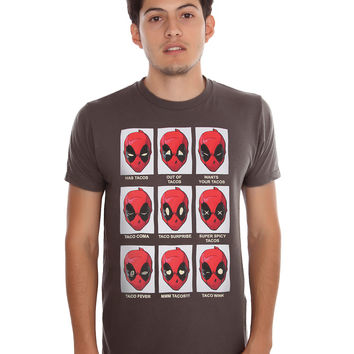 Marvel Deadpool Taco Expressions T-Shirt