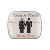 Funny Wedding Favors Jelly Belly Candy Tin
