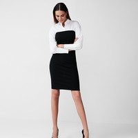Button-Up Knit Sheath Dress