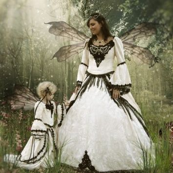 Fairy Medieval Renaissance Fantasy Set with Overskirts- Custom
