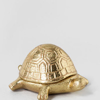 Gold Turtle Trinket Box