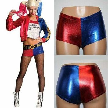 Womens Girls Harley Quinn Hot Pants Shorts Suicide Squad Cosplay Panties Costume