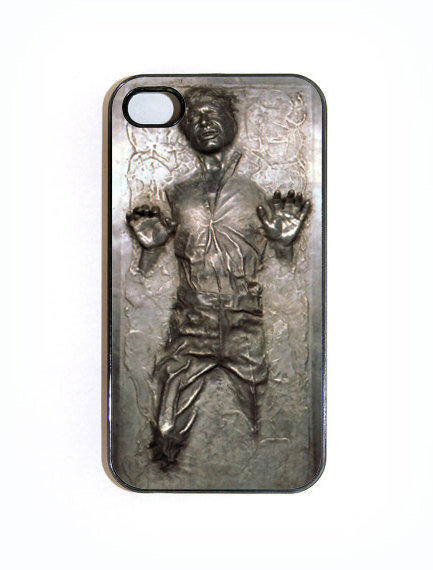 iPhone 4 4s Case Custom Han Solo Frozen In by KustomCases on Etsy