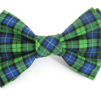 Dog Bow Tie Small Medium Large Christmas Colors Dog Bowtie Attaches with Velcro