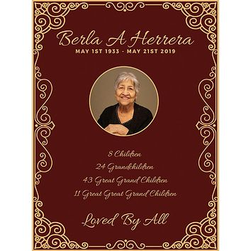 Memorial Celebration of Life Theme Backdrop (Any Color) Background - C0259
