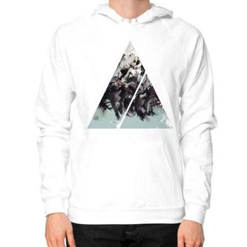 CREYUG7 Geometric Conversation Hoodie (on man)