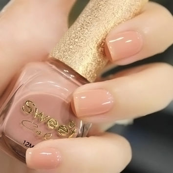 nail polish Sweet color eco-friendly oil nude painting pink nail polish set nail  polish  choose any 2 colors