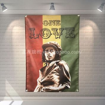 Bob Marley Heavy Metal Music Rock Band Poster Banners Hanging Pictures Art Waterproof Cloth Music Festival Banquet Party Decor