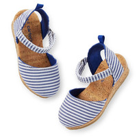Carter's Striped Mary Jane Sandals