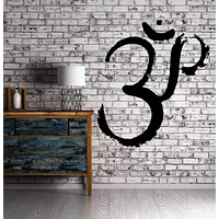 Wall Decal Fire Yoga Symbol Om Spiritual Sanskrit Decor Vinyl Art Sticker Unique Gift M574