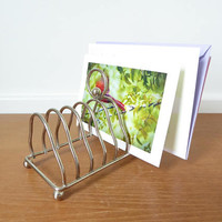Chrome plated toast rack, use for dining or as a letter holder