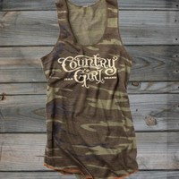 Juniors Country Girl ® Camo Racerback Tank - Country Fashion Clothing