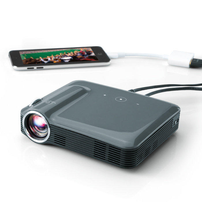 Brookstone pocket projector pro 200 from brookstone epic for Best pocket size projector