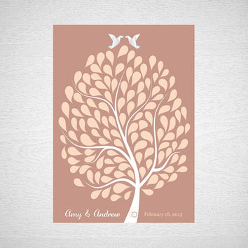 Guest Book Tree Poster Wedding Guest Book Alternative Wedding Guest Book Print Wedding Guest Book Print for 120 Guest Wedding Poster