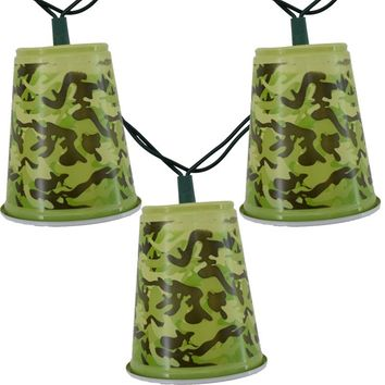 Camo Solo Party Cup String Lights