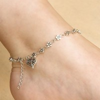 Great Deal Stylish Shiny Gift Awesome New Arrival Hot Sale Vintage Silver Heart Anklet Multi-functioned Chain Bracelet [6586320071]