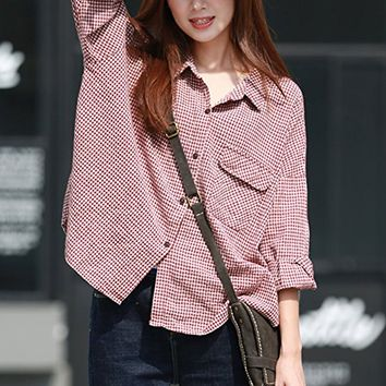 Women's Linen Blouses Tops T-Shirt Casual Loose Fitting