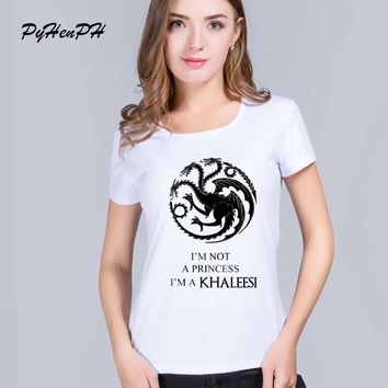 PyHen game of thrones t shirt women The Mother of Dragons Printed women tee tops Blusa lady t-shirts