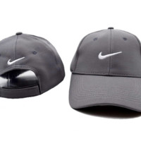 The New NIKE Embroidery Gray Sport Outdoor Cotton Baseball Cap Hat