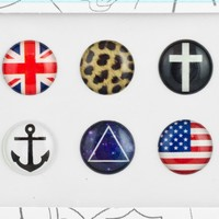 Bubble Buttons Home Button Sticker Hipster Pack:Amazon:Cell Ph