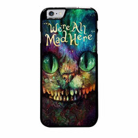 cheshire cat alice in wonderland were all mad here colorful case for iphone 6 plus 6s plus