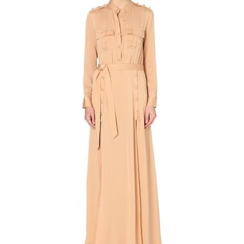 SELF-PORTRAIT - Militaire crepe maxi dress | Selfridges.com