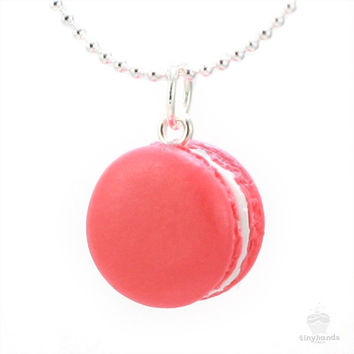 Scented Rose French Macaron Necklace