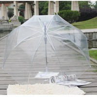 Color Transparent Leaves Cage Sunny Umbrella Rain Umbrella Parasol Women Semi-automatic Umbrellas Clear